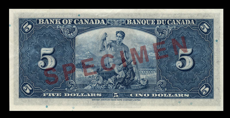 Canada, Bank of Canada, 5 dollars : January 2, 1937