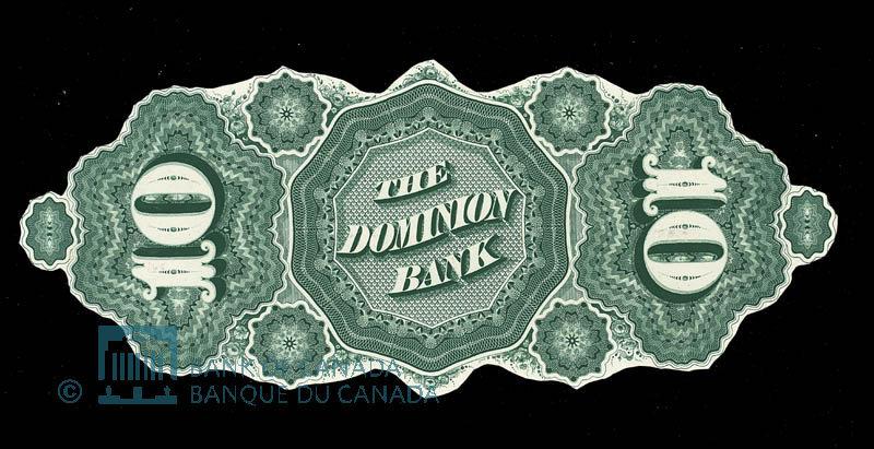 Canada, Dominion Bank, 10 dollars : May 1, 1871