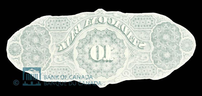 Canada, Stadacona Bank, 10 dollars : April 2, 1874