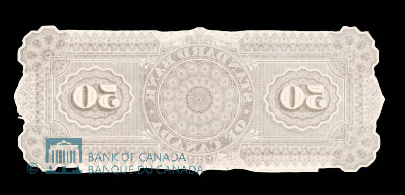 Canada, Standard Bank of Canada, 50 dollars : July 1, 1881
