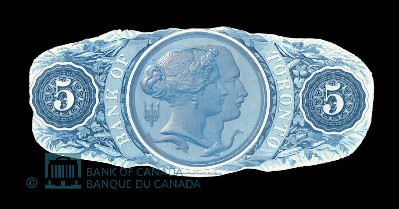 Canada, Bank of Toronto (The), 5 dollars : July 1, 1880
