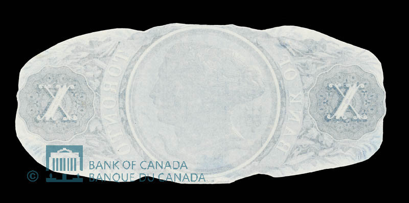 Canada, Bank of Toronto (The), 10 dollars : July 1, 1880