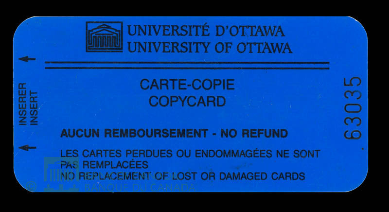 Canada, University of Ottawa, no denomination : 1996
