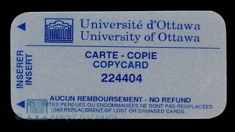 Canada, University of Ottawa, no denomination : 1999
