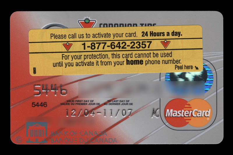 Canadian Tire Mastercard >> Bank Of Canada Museum