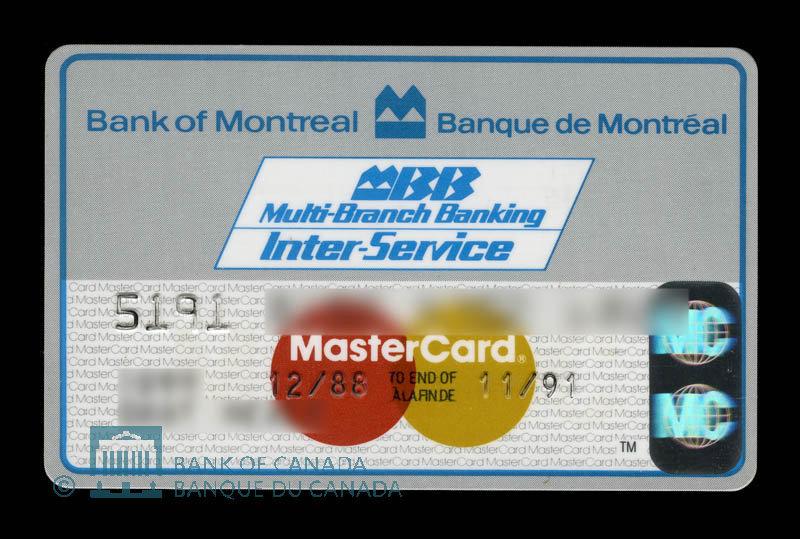 Canada, Bank of Montreal, no denomination : December 1988