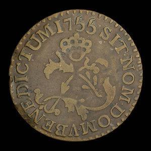 France, Louis XV, 2 sous : 1755