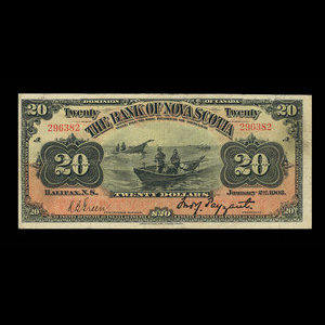 Canada, Bank of Nova Scotia, 20 dollars : January 2, 1903
