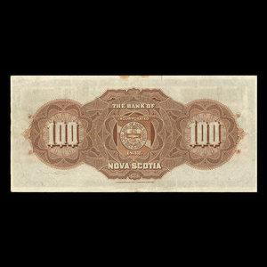 Canada, Bank of Nova Scotia, 100 dollars : January 2, 1929
