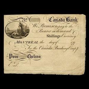 Canada, Canada Bank, no denomination : 1793