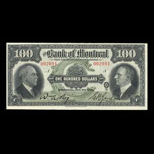 Canada, Bank of Montreal, 100 dollars : January 2, 1931