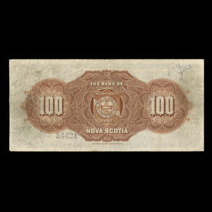 Canada, Bank of Nova Scotia, 100 dollars : January 2, 1925