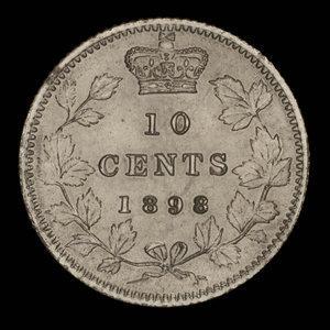 Canada, Victoria, 10 cents : 1898