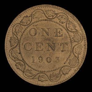 Canada, Edward VII, 1 cent : 1903