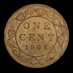 Canada, Edward VII, 1 cent : 1905