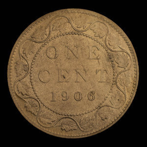 Canada, Edward VII, 1 cent : 1906