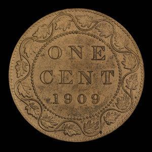 Canada, Edward VII, 1 cent : 1909
