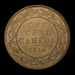 Canada, George V, 1 cent : 1912