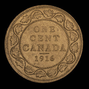 Canada, George V, 1 cent : 1916