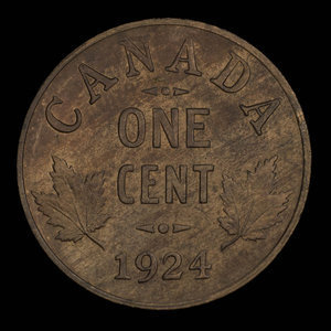 Canada, George V, 1 cent : 1924