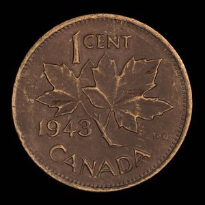 Canada, George VI, 1 cent : 1943