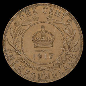 Canada, George V, 1 cent : 1917