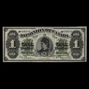 Canada, Dominion of Canada, 1 dollar : June 1, 1878