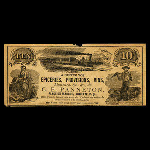 Canada, G.E. Panneton, no denomination : 1887