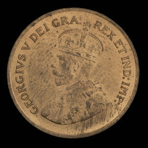 Canada, George V, 1 cent : 1935