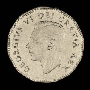 Canada, George VI, 5 cents : 1949