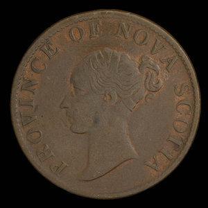 Canada, Province of Nova Scotia, 1/2 penny : 1843