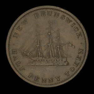 Canada, Province of New Brunswick, 1/2 penny : 1843