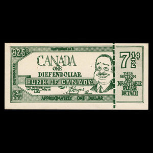 Canada, unknown, 92 1/2 cents : 1963