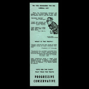 Canada, Progressive Conservative Party of Canada, no denomination : 1962