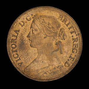 Great Britain, Victoria, 1 farthing : 1860