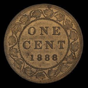 Canada, Victoria, 1 cent : 1888