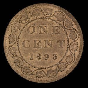 Canada, Victoria, 1 cent : 1893