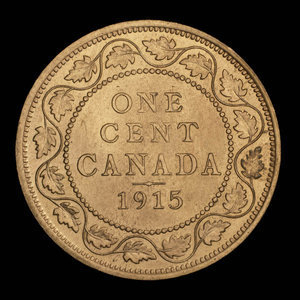 Canada, George V, 1 cent : 1915