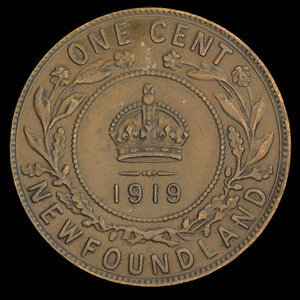 Canada, George V, 1 cent : 1919