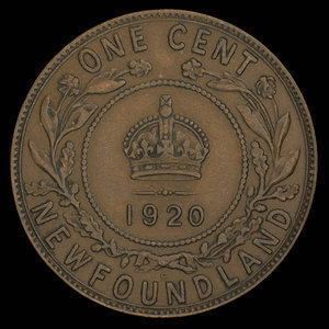 Canada, George V, 1 cent : 1920
