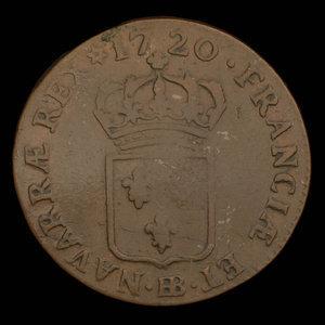 France, Louis XV, 1/2 sol : 1720