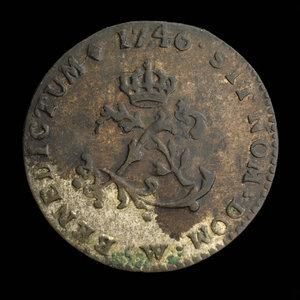 France, Louis XV, 2 sous : 1746