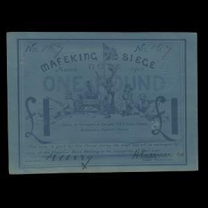 South Africa, Sir Robert Stephenson Smyth Baden-Powell Standard Bank of South Africa, 1 pound : 1900