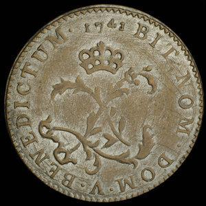 France, Louis XV, 2 sous : 1741