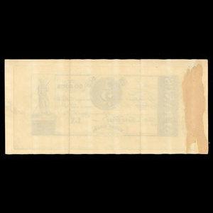 Canada, Hart's Bank, 60 sous : October 1, 1837