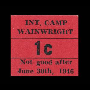 Canada, Camp 135, 1 cent : June 30, 1946