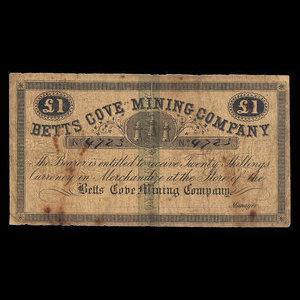 Canada, Betts Cove Mining Company, 1 pound : 1886