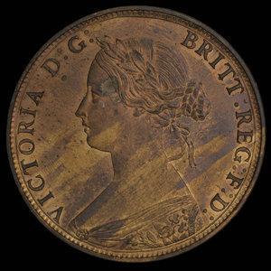 Canada, Province of Nova Scotia, 1 cent : 1861