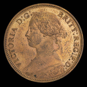 Canada, Province of Nova Scotia, 1/2 cent : 1861