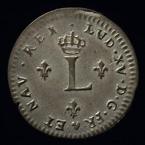 France, Louis XV, 2 sous : 1744